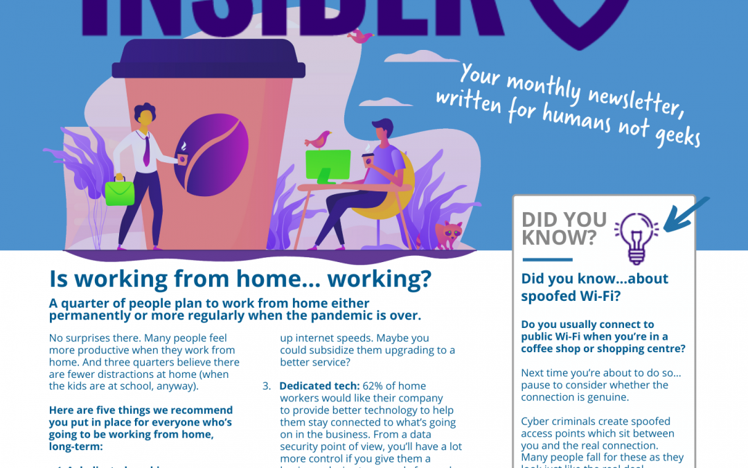 Technology Insider – May 2021 – Is working from home… working