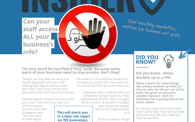 Technology Insider – June 2021 – Can your staff access ALL your business's info?